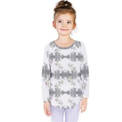 Floral Collage Pattern Kids  Long Sleeve Tee