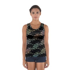 Birds With Nest Rainbow Sport Tank Top
