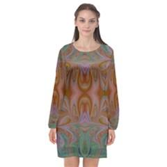 Summer Love Long Sleeve Chiffon Shift Dress