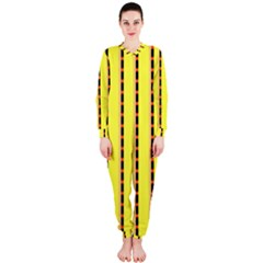 Pattern Background Wallpaper Banner Onepiece Jumpsuit (ladies)