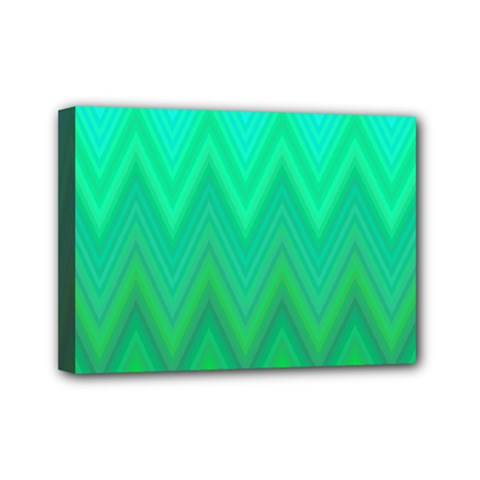 Zig Zag Chevron Classic Pattern Mini Canvas 7  X 5