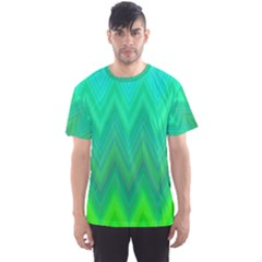Zig Zag Chevron Classic Pattern Men s Sports Mesh Tee