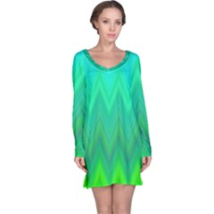 Zig Zag Chevron Classic Pattern Long Sleeve Nightdress