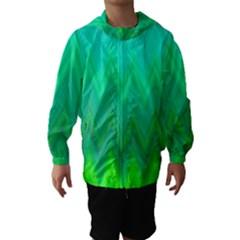 Zig Zag Chevron Classic Pattern Hooded Wind Breaker (kids)