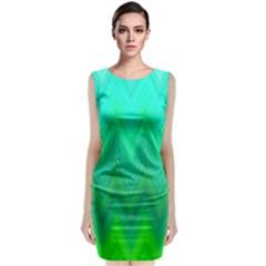 Zig Zag Chevron Classic Pattern Classic Sleeveless Midi Dress