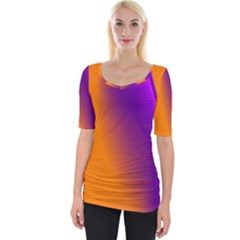 Lines Network The Ribbon Red Wide Neckline Tee