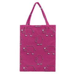 Rhino Pattern Wallpaper Vector Classic Tote Bag
