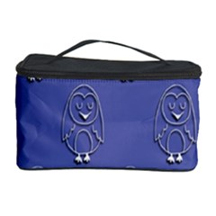 Owl Pattern Wallpaper Vector Cosmetic Storage Case