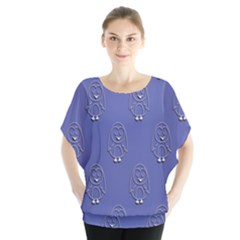 Owl Pattern Wallpaper Vector Blouse
