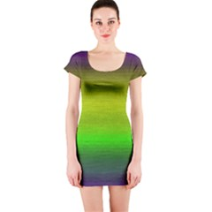 Ombre Short Sleeve Bodycon Dress