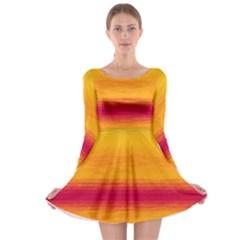 Ombre Long Sleeve Skater Dress