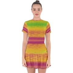 Ombre Drop Hem Mini Chiffon Dress