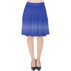Ombre Velvet High Waist Skirt