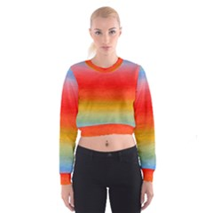 Ombre Cropped Sweatshirt