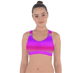 Ombre Cross String Back Sports Bra