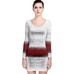 Ombre Long Sleeve Bodycon Dress