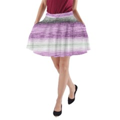 Ombre A Line Pocket Skirt