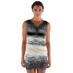 Ombre Wrap Front Bodycon Dress