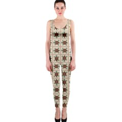 Native American Pattern Onepiece Catsuit