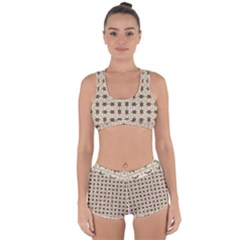 Native American Pattern Racerback Boyleg Bikini Set
