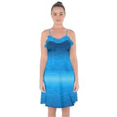 Ombre Ruffle Detail Chiffon Dress