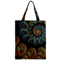 Spiral Background Patterns Lines Woven Rotation Zipper Classic Tote Bag