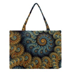 Spiral Background Patterns Lines Woven Rotation Medium Tote Bag