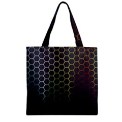 Abstract Resize Zipper Grocery Tote Bag