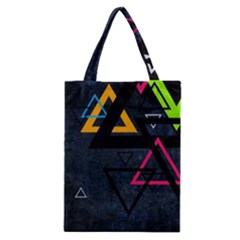 Abstract Triangles Resize Classic Tote Bag