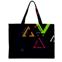 Abstract Triangles Resize Zipper Mini Tote Bag