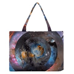 Abstract Abstract Space Resize Zipper Medium Tote Bag