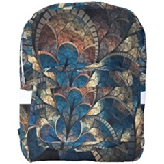 Abstract Pattern Dark Blue And Gold Full Print Backpack