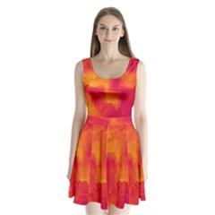 Ombre Split Back Mini Dress