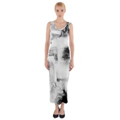 Ombre Fitted Maxi Dress