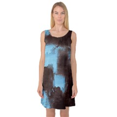 Ombre Sleeveless Satin Nightdress