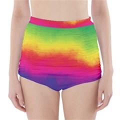 Ombre High Waisted Bikini Bottoms