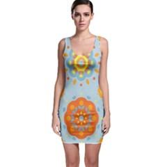 Tekstura Uzory Tsvety Krugi  Bodycon Dress