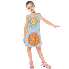 Tekstura Uzory Tsvety Krugi  Kids  Sleeveless Dress
