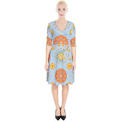 Tekstura Uzory Tsvety Krugi  Wrap Up Cocktail Dress