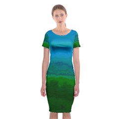 Ombre Classic Short Sleeve Midi Dress