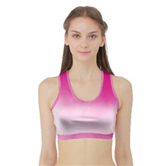 Ombre Sports Bra With Border