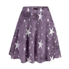 Star Texture Patterns  High Waist Skirt