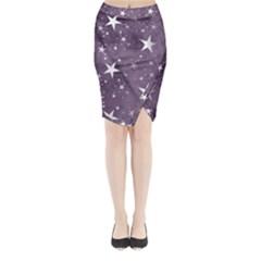 Star Texture Patterns  Midi Wrap Pencil Skirt