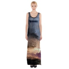 Texture Background Color Style Maxi Thigh Split Dress