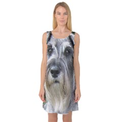 Standard Schnauzer 2 Sleeveless Satin Nightdress