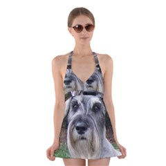 Standard Schnauzer 2 Halter Swimsuit Dress