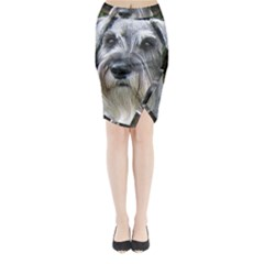 Standard Schnauzer 2 Midi Wrap Pencil Skirt