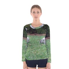 2 Standard Schnauzers Women s Long Sleeve Tee