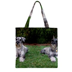 2 Standard Schnauzers Zipper Grocery Tote Bag