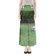 2 Standard Schnauzers Full Length Maxi Skirt